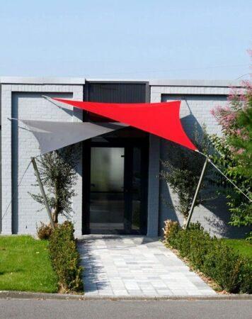 05 Дизайн крыльца частного дома с навесом Фото Теневые паруса