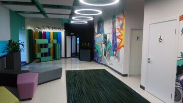 Programming school 21 Sberbank Kazan Beautiful interior design