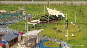 Комплект сборно-разборного навеса для детской и спортивной площадки