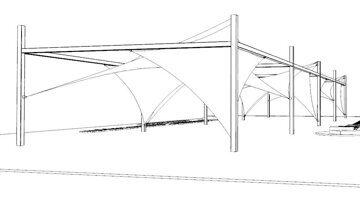 VERANDA Теневые паруса 3D-model скачать теневой навес для пляжа